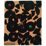 Machines parlantes (Collage de disques 78 ; 80 et 100t sur plaque d'aggloméré :115x95cm) - 450€ + port